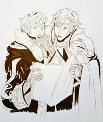 Chrom And Robin Inktober 2 by PastelWing
