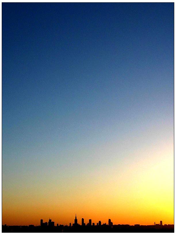 Warsaw sunset by DzejBi
