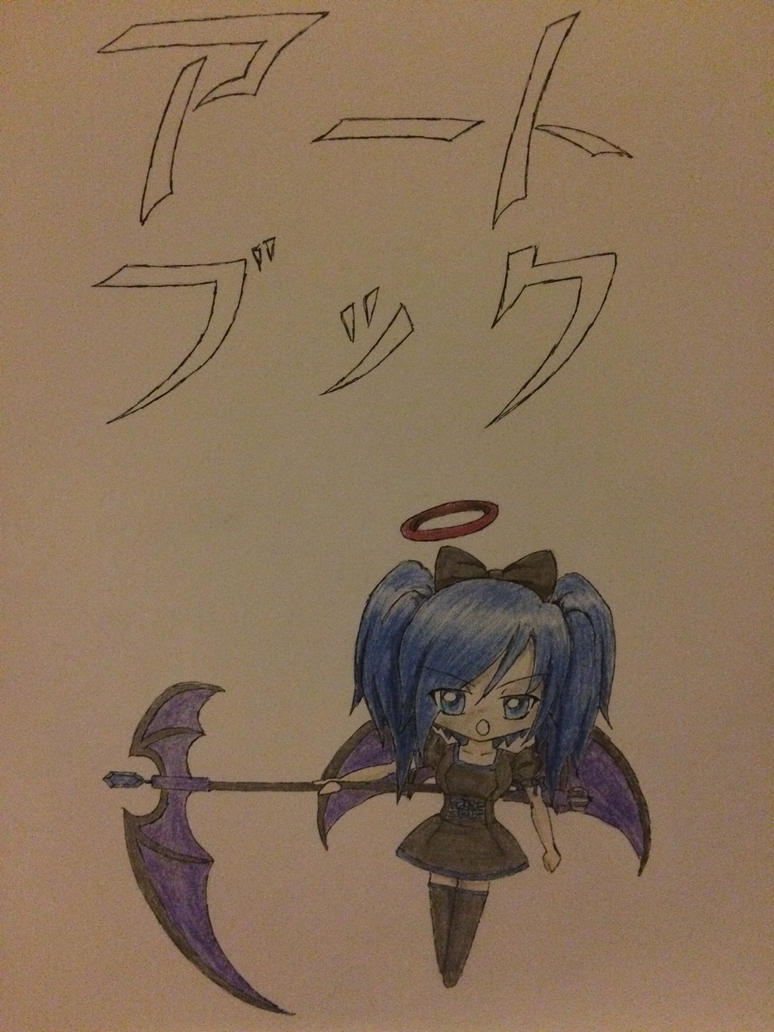 My binder cover drawing. by Sailor-Jeimi