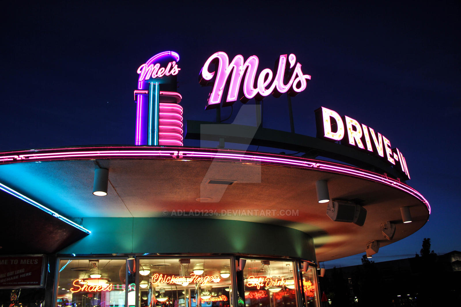 American graffiti diner exterior by adlad1234 on deviantart for 50 s diner exterior