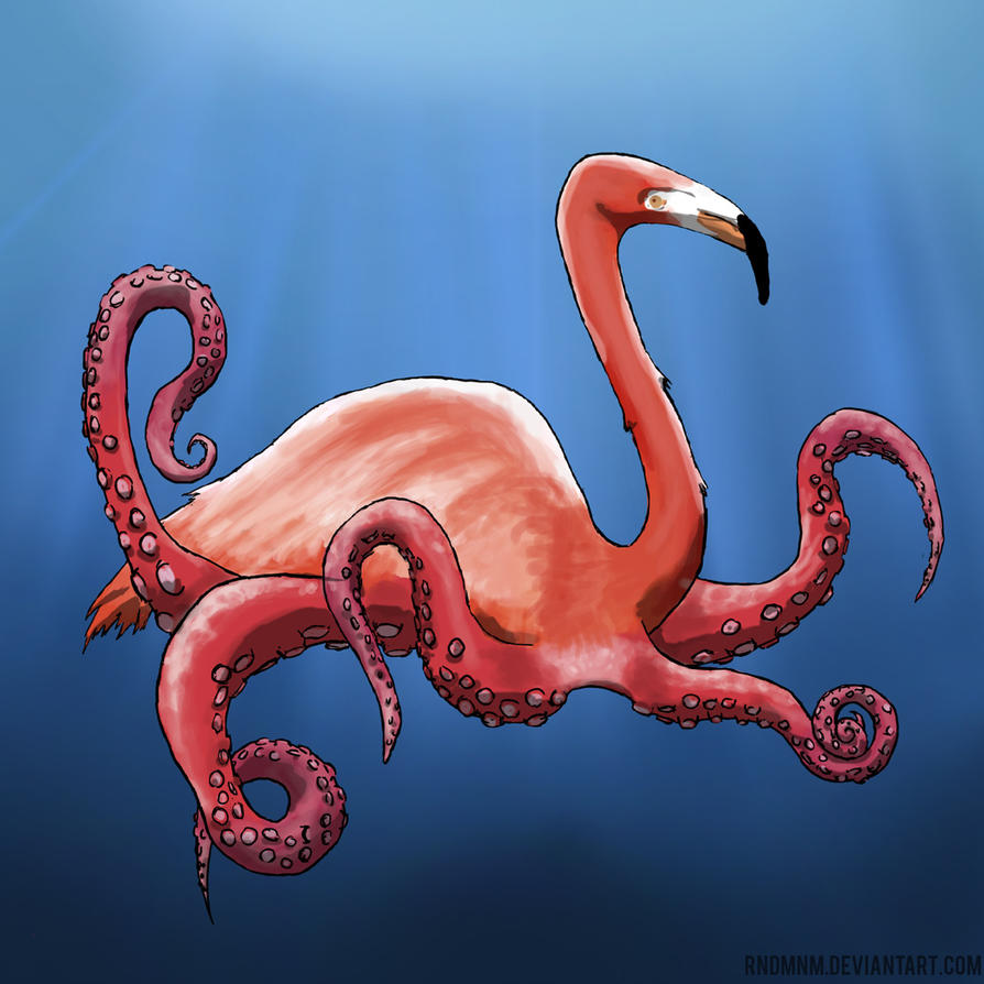Flamoctopus by rndmnm