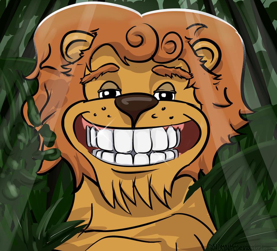 Smiling Lion by rndmnm