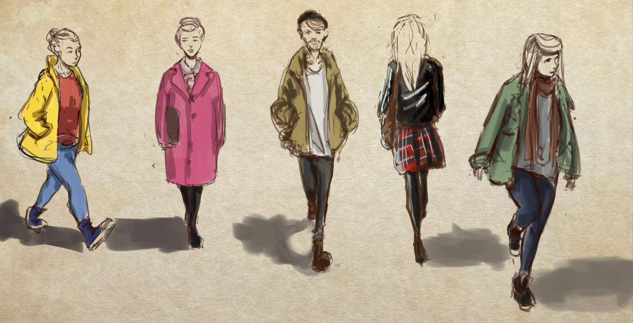 Some Clothing Drawing by rndmnm