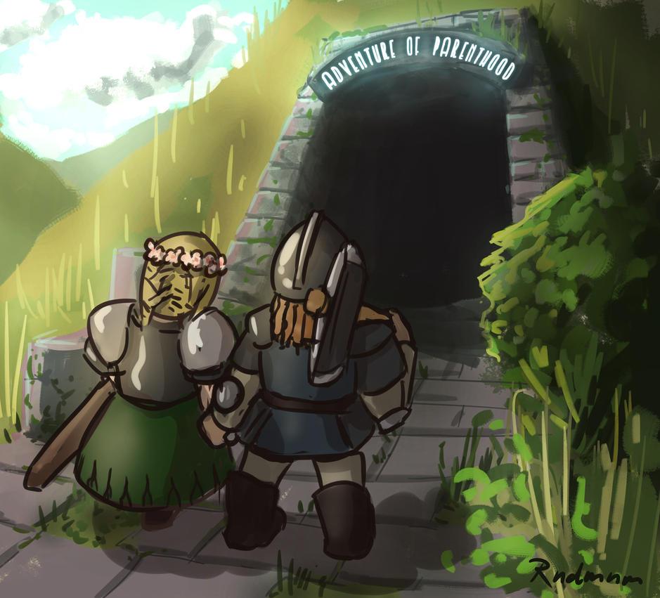 Dwarven Couple by rndmnm