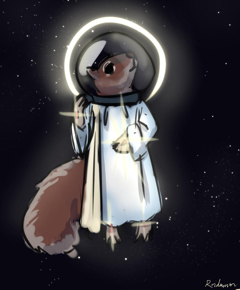 Space Squirell Jesus by rndmnm