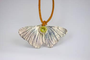 Ginkgo butterfly pendant by Alandil-Lenard