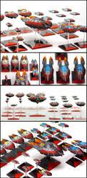Firestorm Armada - The Directorate Patrol Fleet by Alandil-Lenard