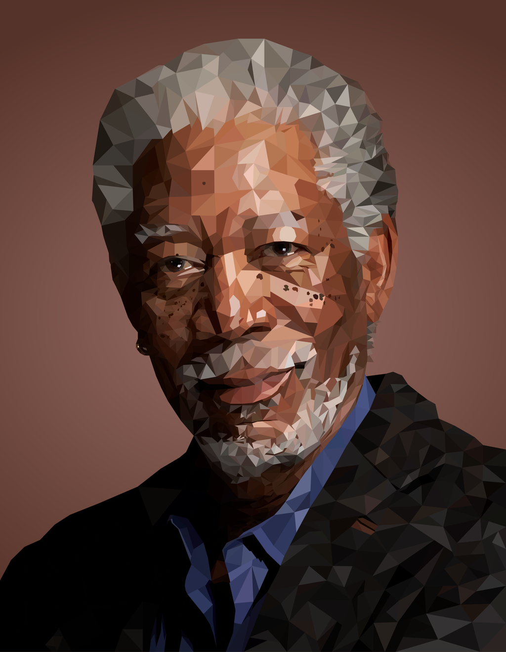 morgan freeman low poly by cassid on deviantart. Black Bedroom Furniture Sets. Home Design Ideas