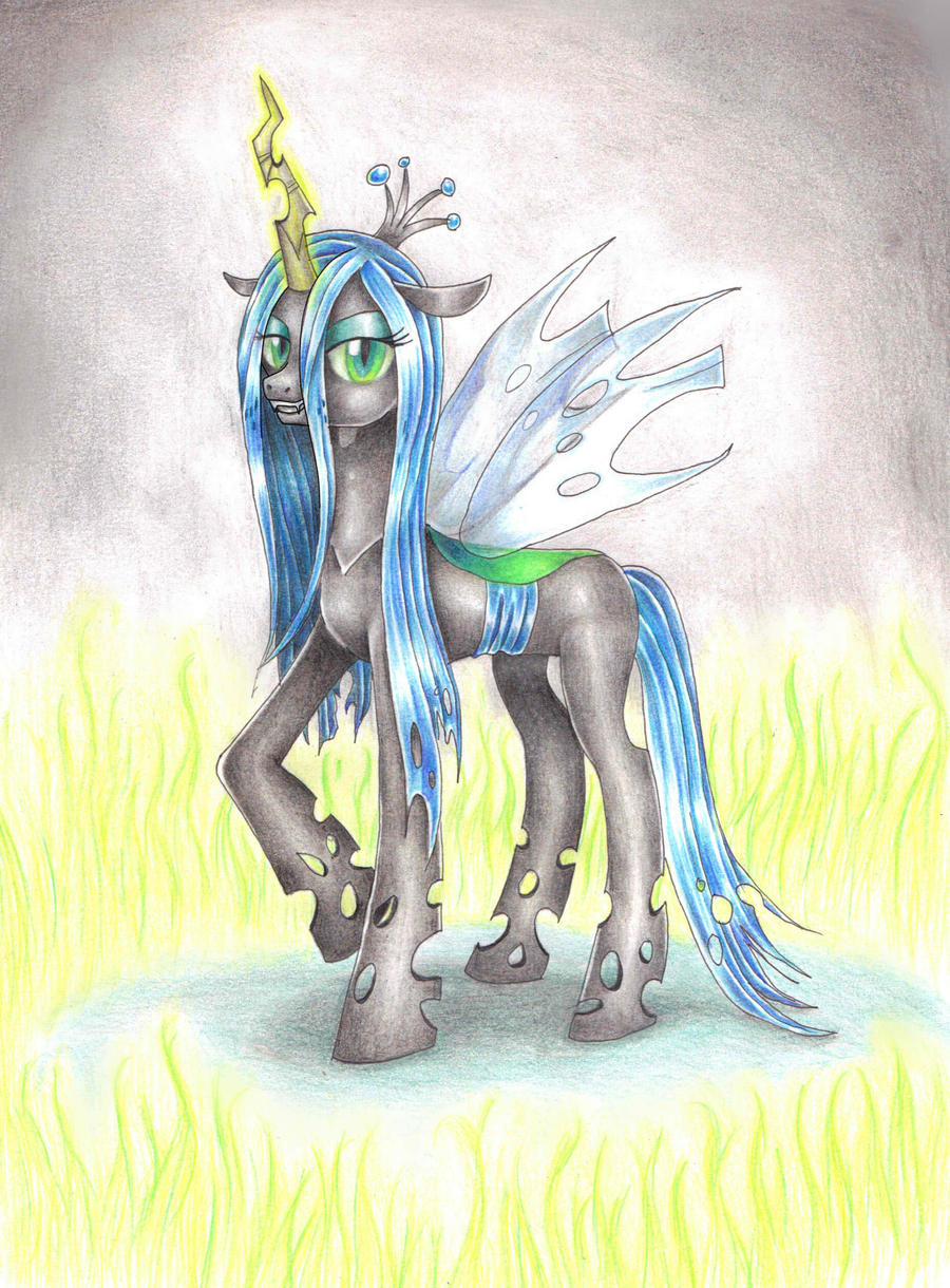 Queen Chrysalis by Evomanaphy
