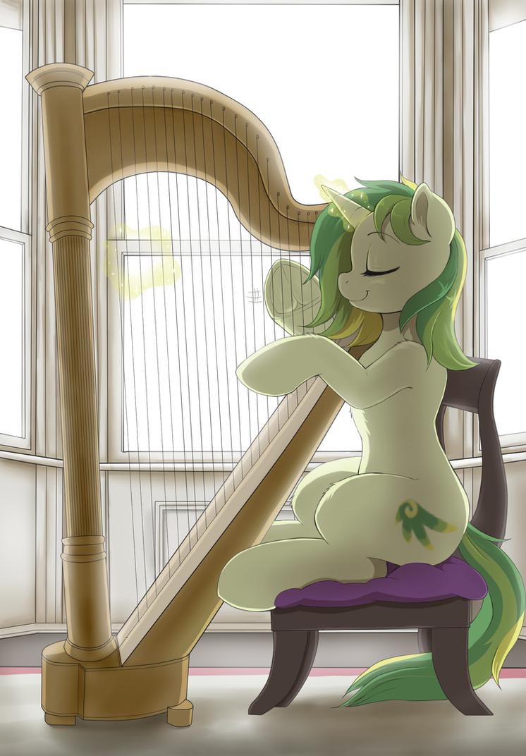 _patreon_reward_sketch__playing_the_harp