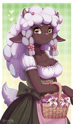 Wooloo anthro doodle by Evomanaphy