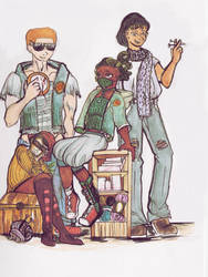 Knitting Gang by kiki5576
