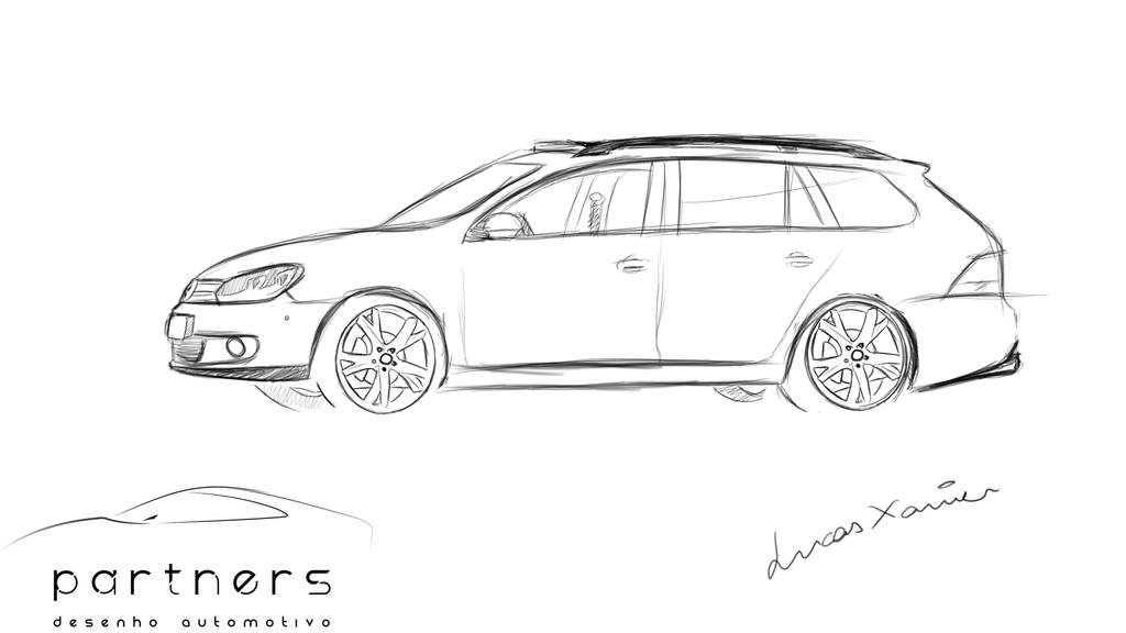 volkswagen jetta variant drawing by lucaasxaviier on
