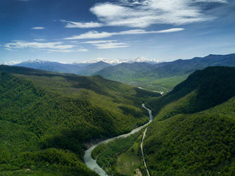 Way to the Greater Caucasus range