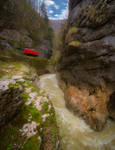 Narrow-gauge railway in Guamka ravine