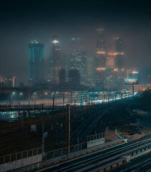 Rainy foggy night