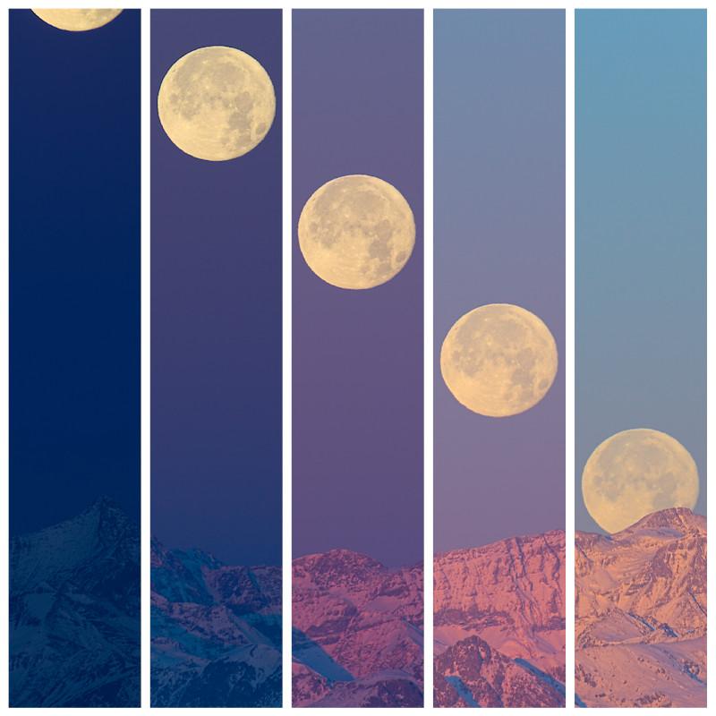 Super Moon mosaic by morglin