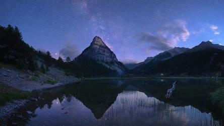 Twilight at Lac des Sagnes