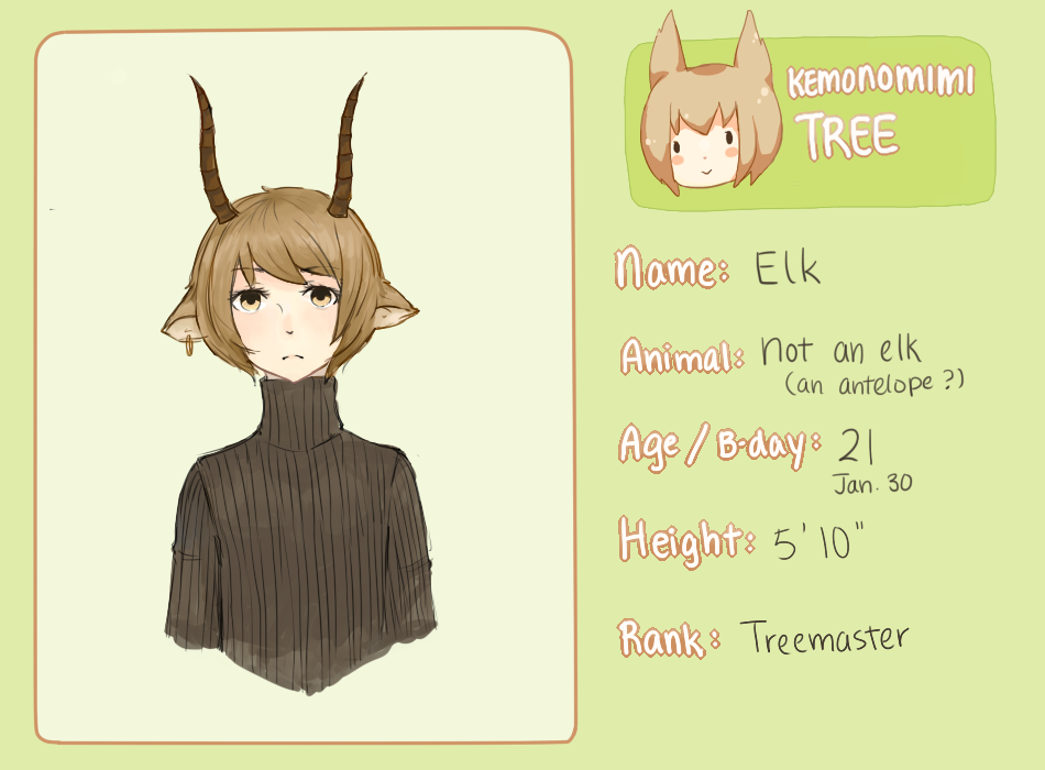 Kemonomimi Tree: Elk by AmberTheSatyr