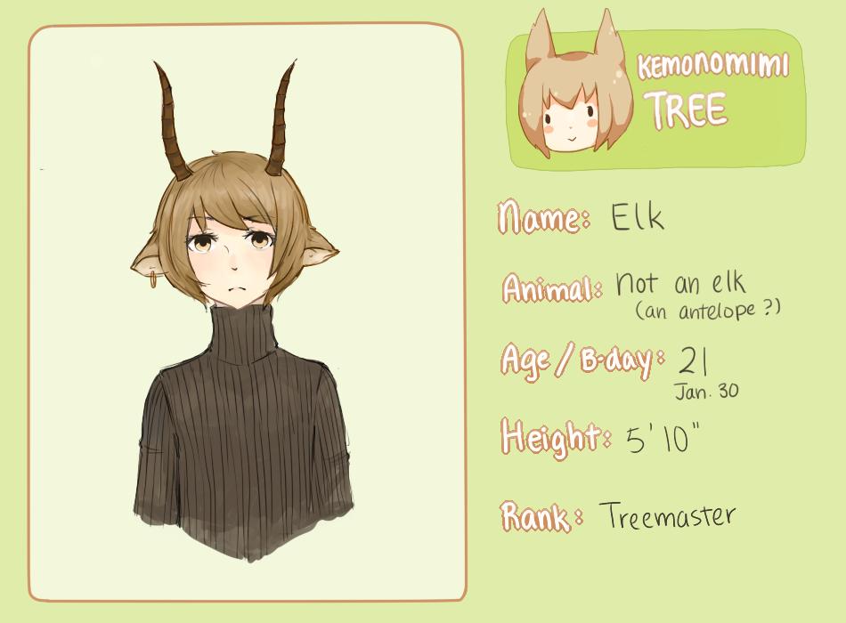 Kemonomimi Tree: Elk by AmberTheSatyr