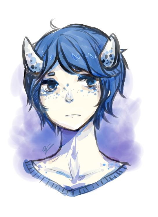 feelin blue by AmberTheSatyr