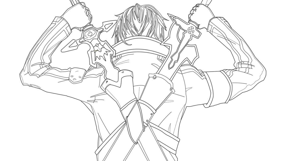Sword Art Online Kirito to paint by DrawingAnimes4Fun on DeviantArt