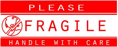 Fragile Sticker by stevenjamestaylor