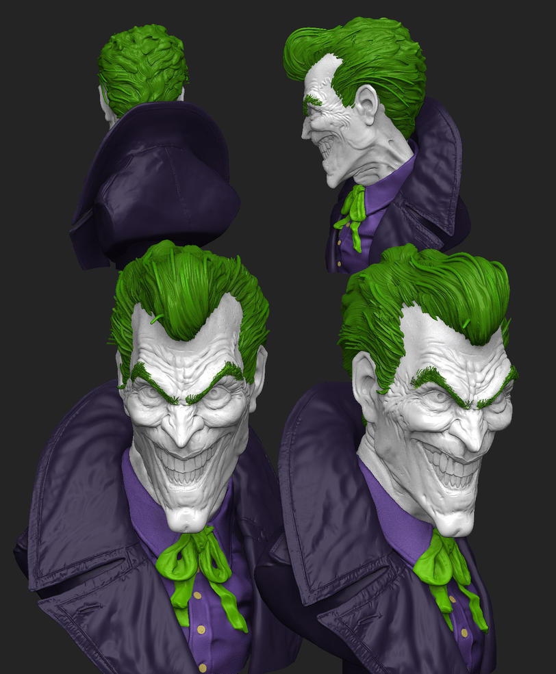 Joker for 3D Print by stevenjamestaylor