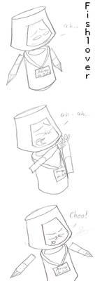 Sketch: Robot Sneees by Fishlover