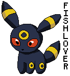 Umbreon Pokedoll Pixel by Fishlover