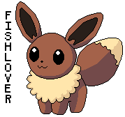 Eevee Pokedoll Pixel by Fishlover