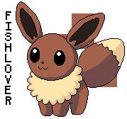 Eevee Pokedoll Pixel by Fishlover