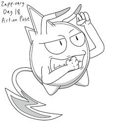 Zapp-uary (Day 18): Action Pose by Fishlover
