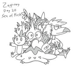 Zapp-uary (Day 20): Sea Of Plush by Fishlover