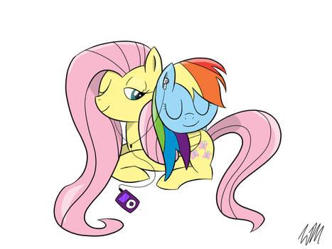 Fluttershy and Rainbow Dash