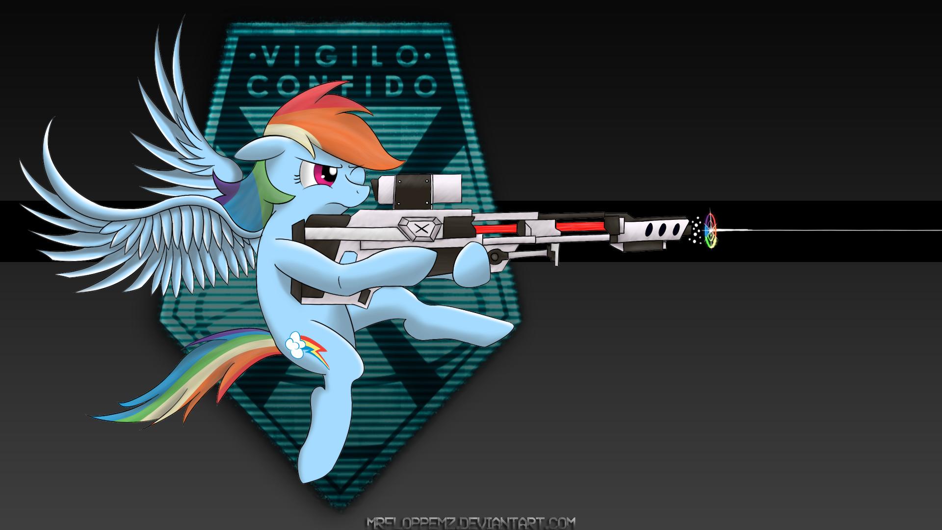 X-COM: Sniper Rainbow Dash by MrFloppemz