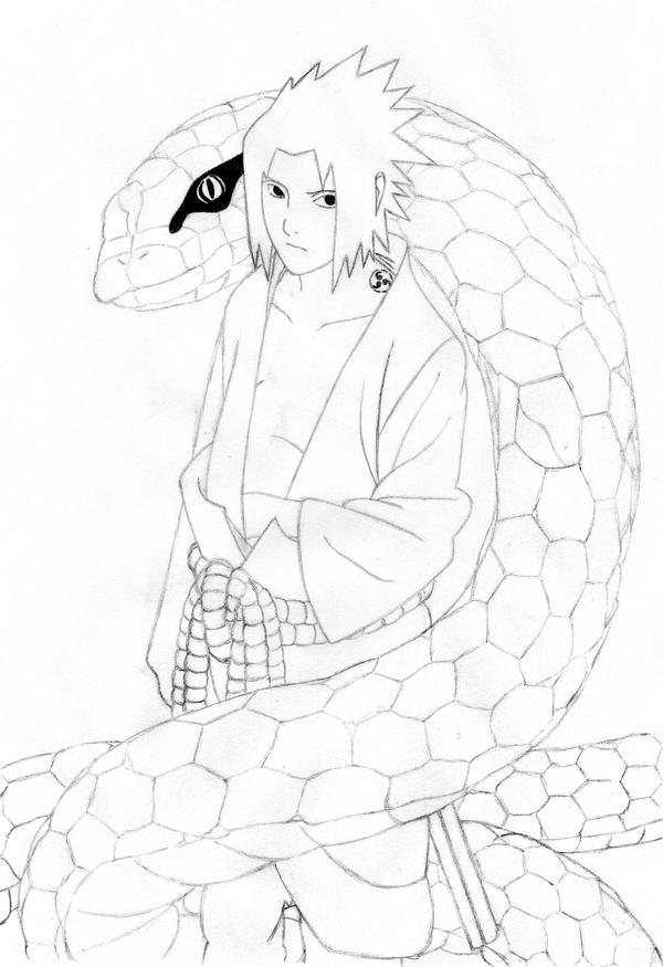 Sasuke y Manda by Sierraa
