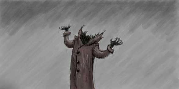 Rain. Headless Man by Valizzl