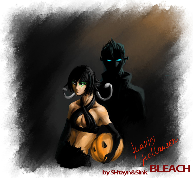 Halloween:Grimmjow and SoiFong by SINKandSHTAYN