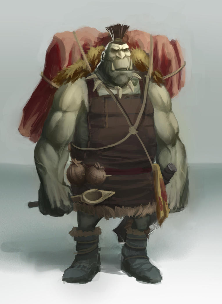 Orc Cook Concept by conceptfox