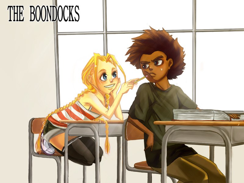 The Boondocks: Huey, Cindy by sukreih on DeviantArt