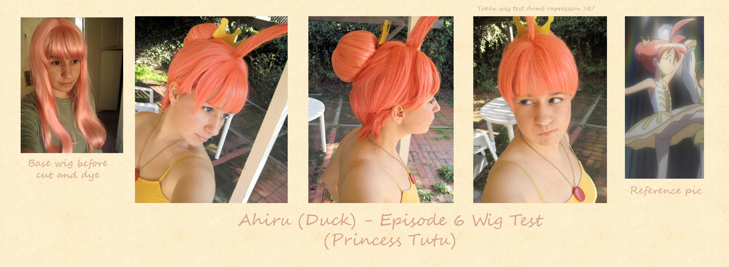 Ahiru - Episode 6 Wig Test by Spwinkles