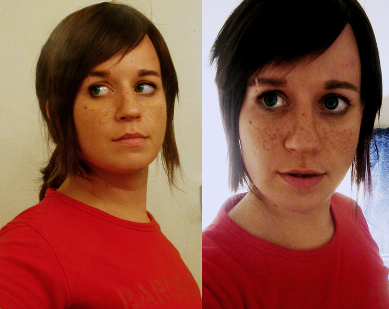 Ellie (The Last of Us) Wig + Makeup Test by Spwinkles