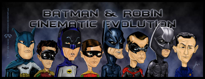 Batman and Robin Cinematic Evolution by simongag
