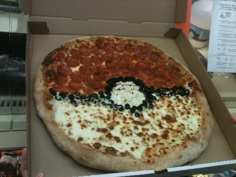 Pokeball Pizza by rawrlz