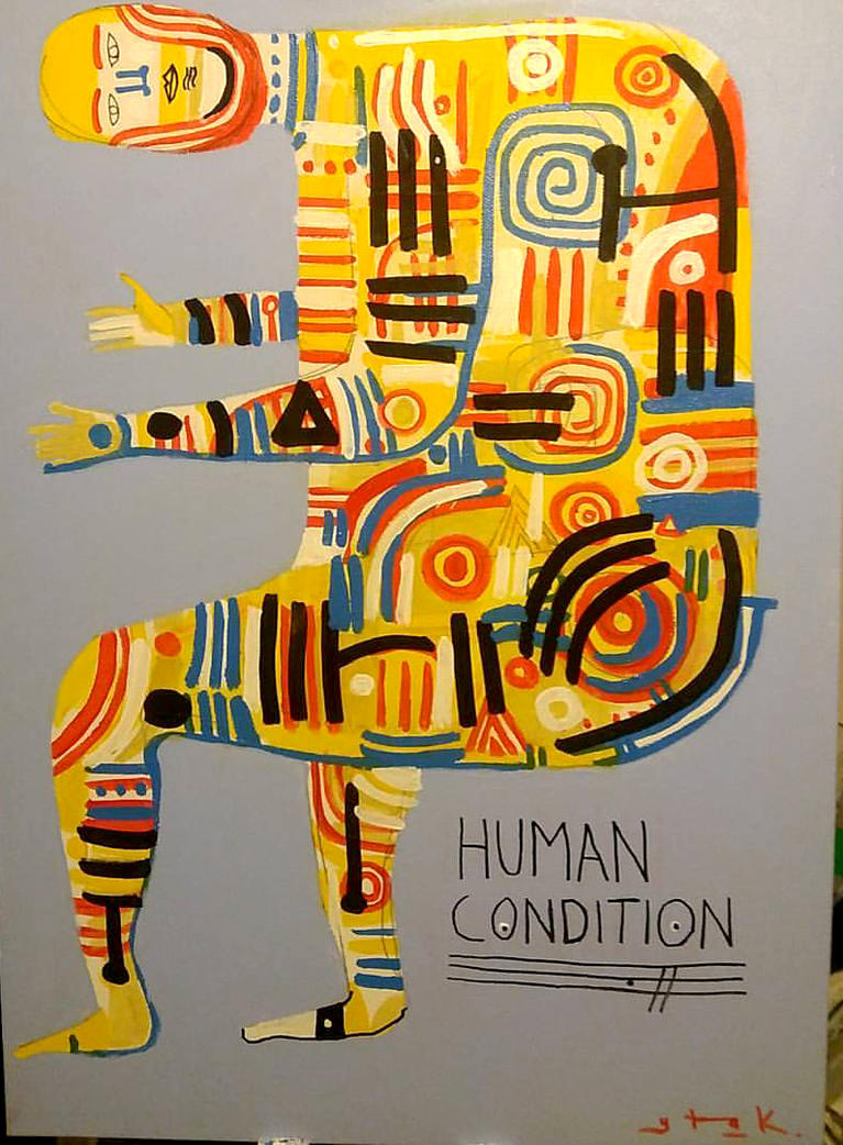 human condition painting analysis Human nature, human diversity  it is about finding some level of analysis where we can discover an  as the best solutions to common problems faced in the human.