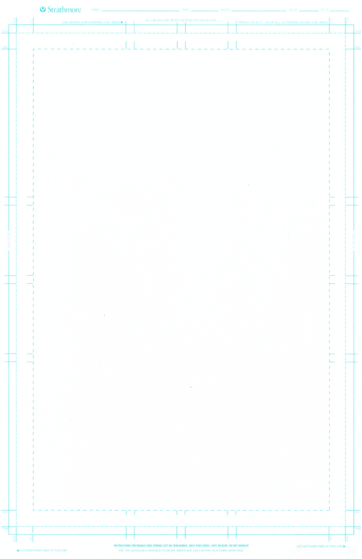 Standard Comic Book Master Page Template 600 DPI by Matadorstudio on ...