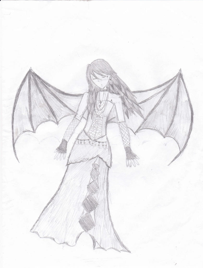 Draw dark angel easy anime pencil sketch
