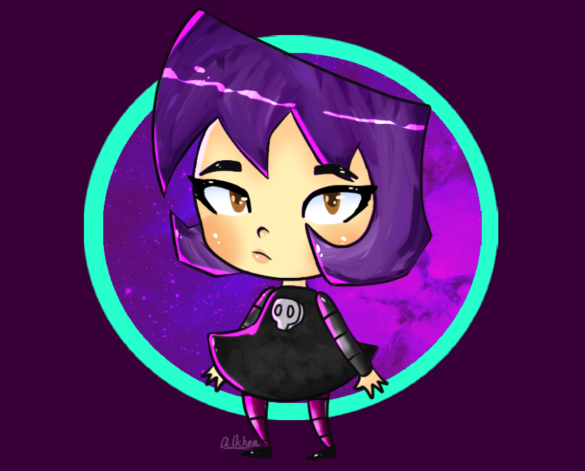 Cartoon Characters With Purple Hair : Cartoon character girl with purple hair adultcartoon