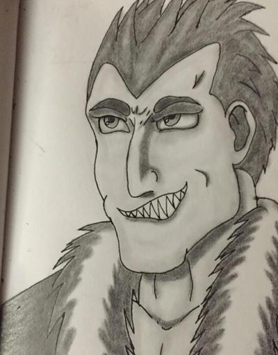 Greed Full metal Alchemist pencil sketch by GabrielGrim